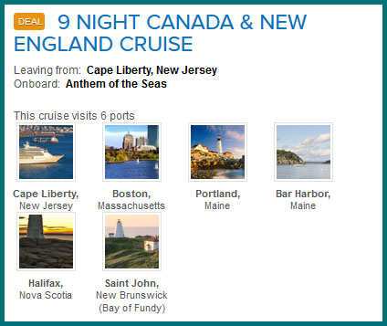 New england cruise deals 2018